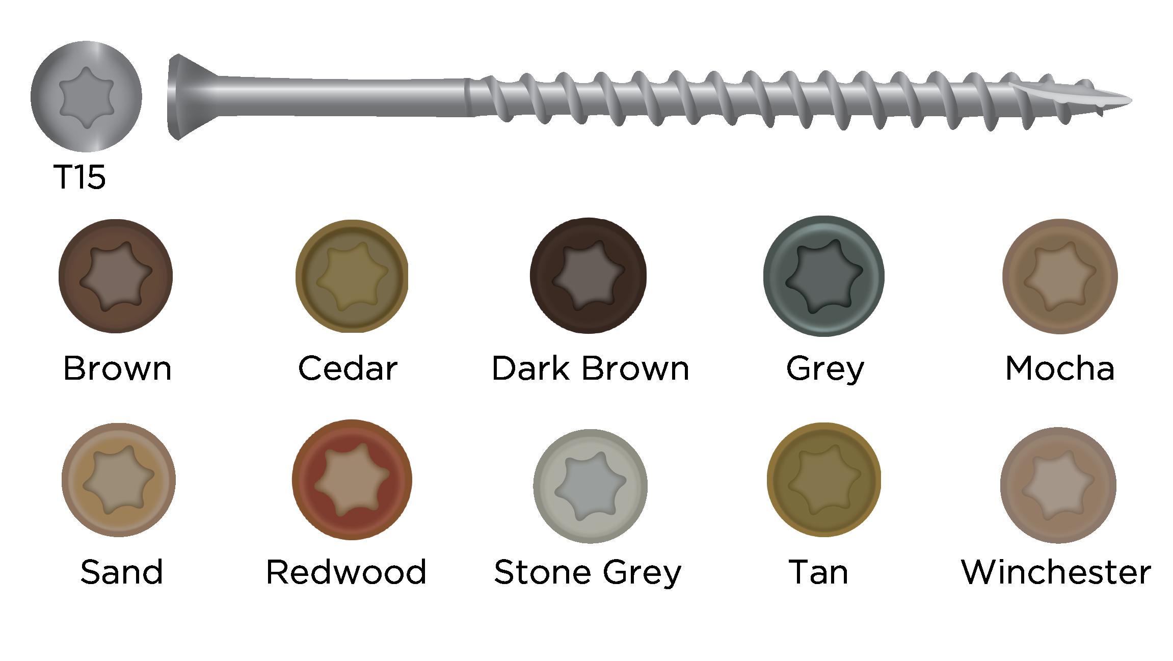 Camofasteners | Exterior Screws